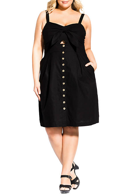 City Chic Plus Size Sweetly Tied Dress