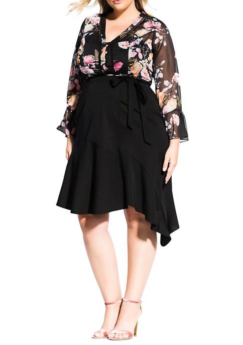 City Chic Plus Size Sweet Wrap Skirt