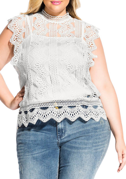 Plus Size Martina Lace Top