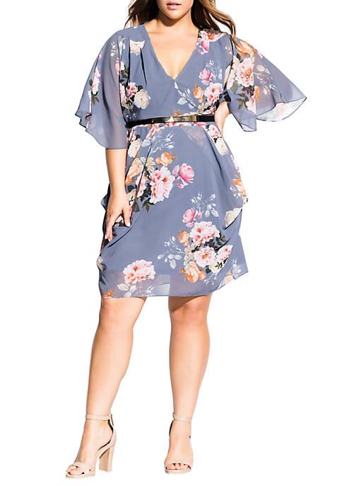 City Chic Plus Size Florence Wrap Dress