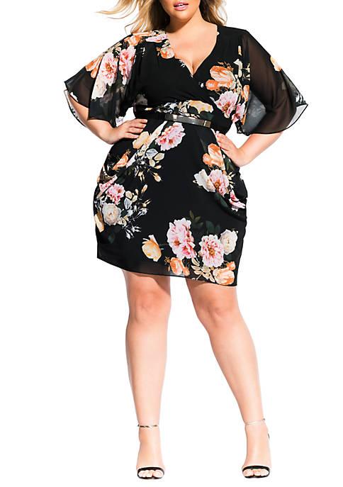 Plus Size Tuscan Rose Dress