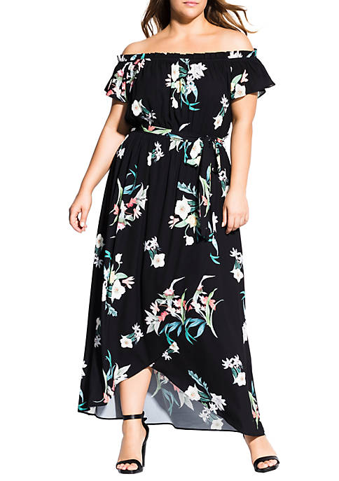 City Chic Plus Size Donatella Maxi Dress
