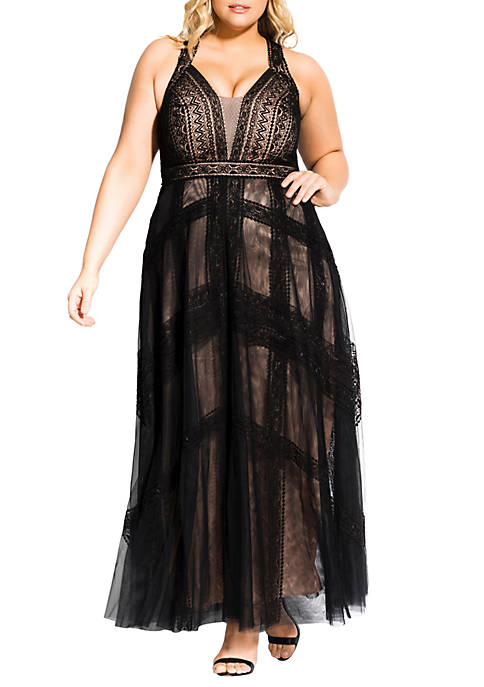 City Chic Plus Size Divine Whimsy Maxi Dress