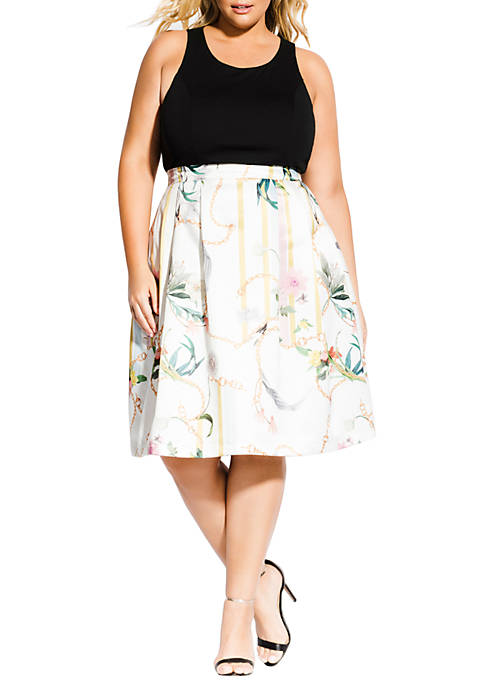 City Chic Plus Size Mod Primavera Dress