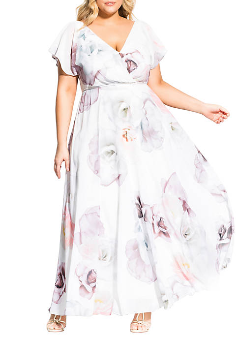 City Chic Plus Size Bella Rosa Maxi Dress