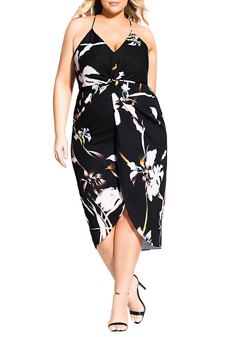 City Chic Plus Size Dreamy Orchid Dress