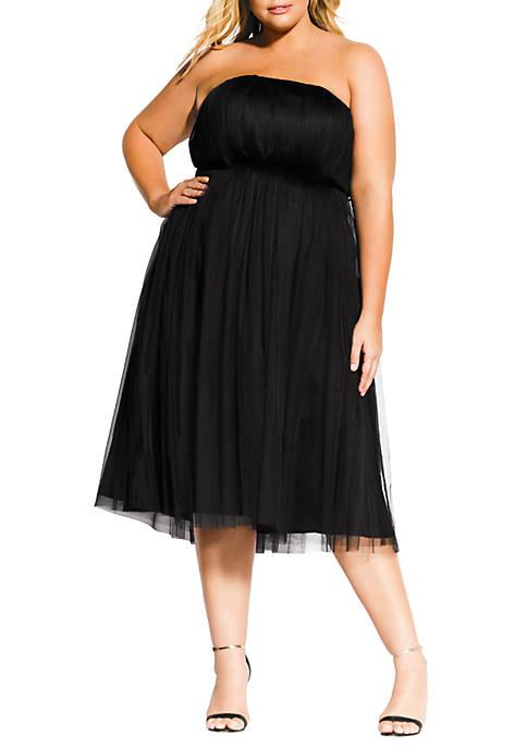 City Chic Plus Size Midi Tulle Dress