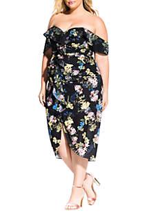 City Chic Plus Size Honeysuckle Dress