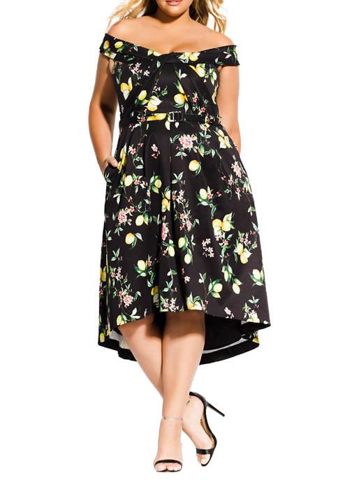 Plus Size Amalfi Floral Dress