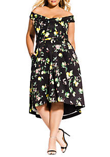 City Chic Plus Size Amalfi Floral Dress