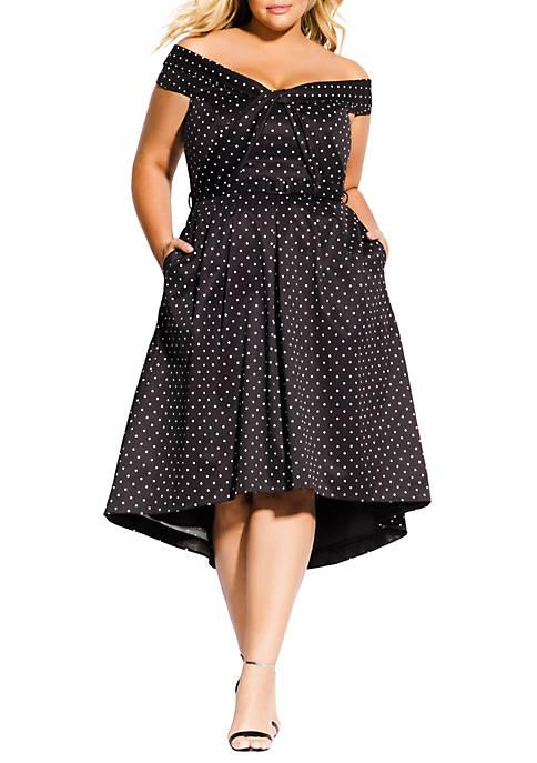 City Chic Plus Size Grace Spot Dress