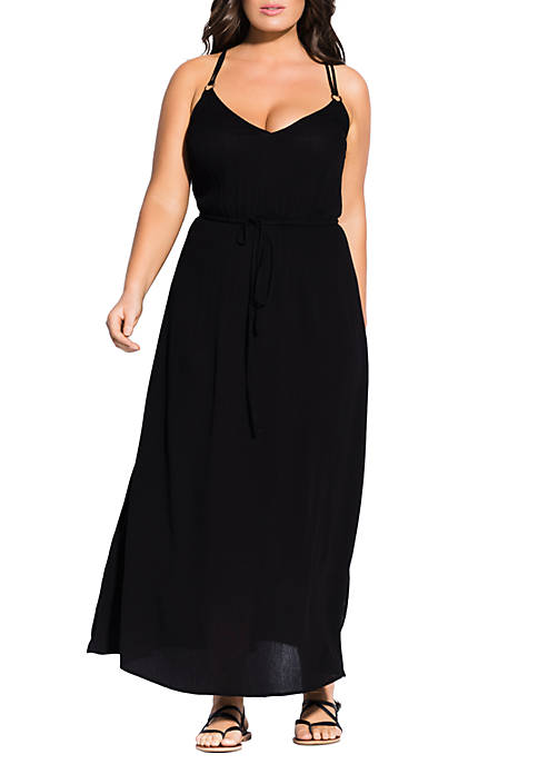 Plus Size Maxi Dress with Back Detail