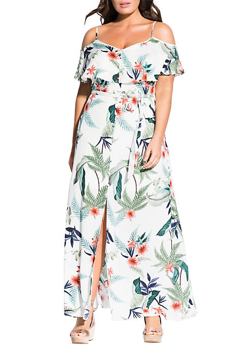 City Chic Plus Size Bahamas Maxi Dress