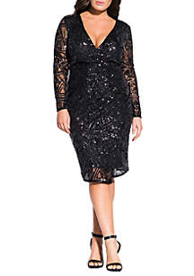 City Chic Plus Size Razzle Dazzle Dress