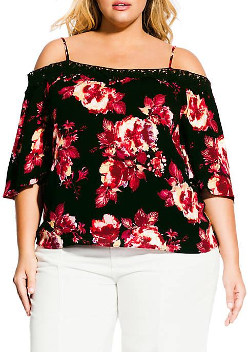 Plus Size Monet Rose Top