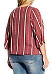 Plus Size Paprika Spice Wove Shirt