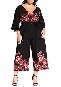 City Chic Plus Size Monet Rose Jumpsuit