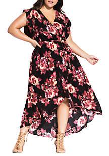 City Chic Plus Size Monet Maxi Dress