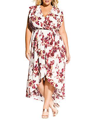 Plus Size Monet Ecru Maxi Dress