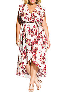 City Chic Plus Size Monet Ecru Maxi Dress