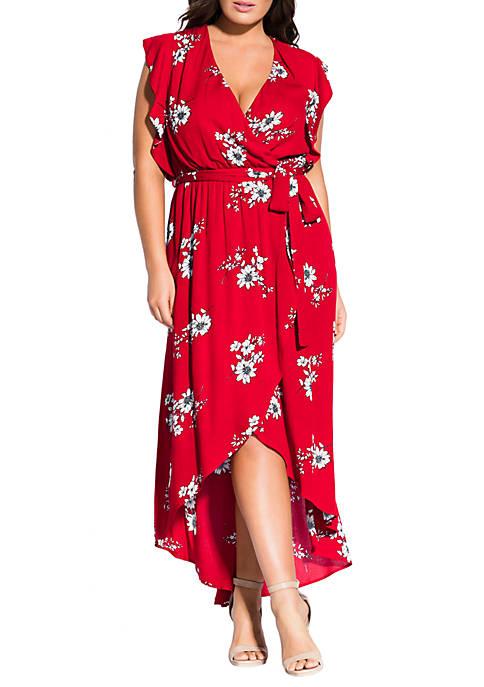 City Chic Plus Size Maxi Love Floral Dress