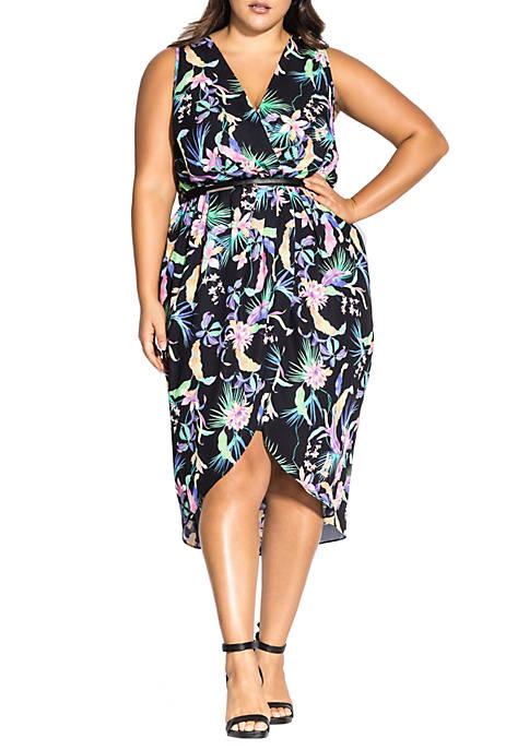 Plus Size Wild Palm Dress