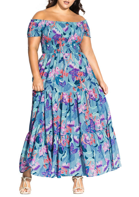 Plus Size Maxi Mystery Floral Dress