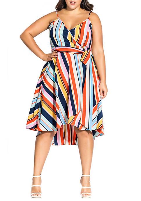 City Chic Plus Size Freedom Strap Dress