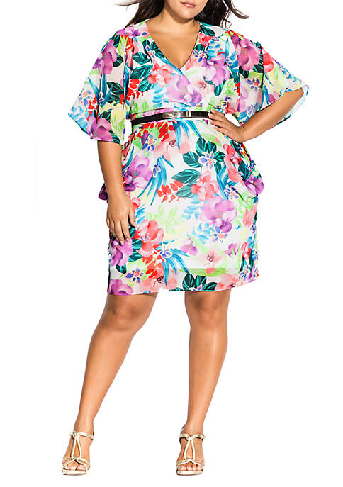 Plus Size Ivory Blooms Dress