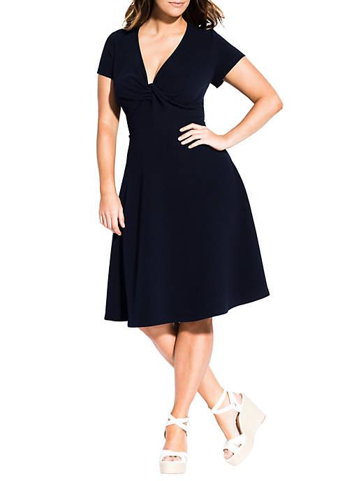 Plus Size Plunge Neck Dress
