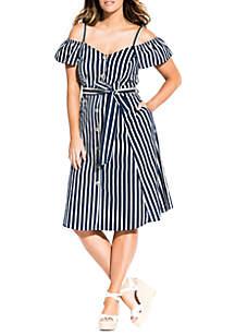 City Chic Plus Size Stripe Affair Dress