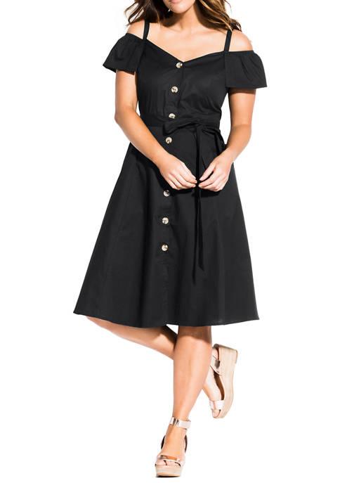 Plus Size Shoulder Affair Dress