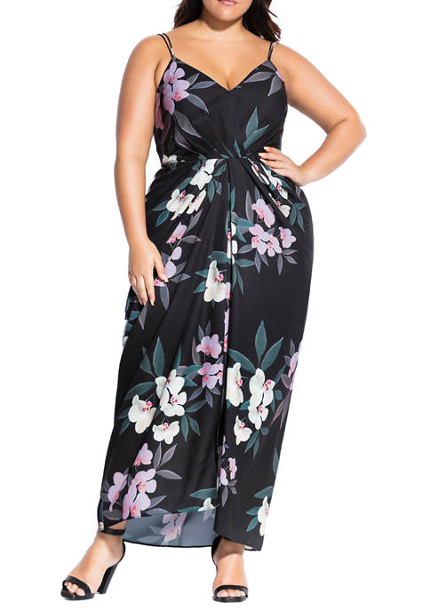 Plus Size Summer Orchid Maxi Dress
