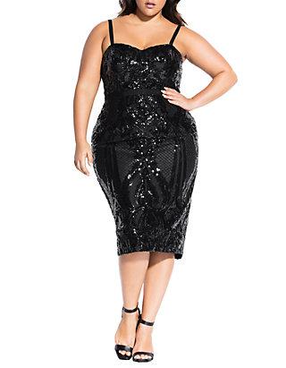 Plus Size Sofia Sequin Dress