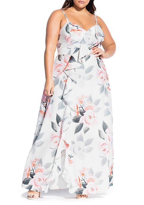 Plus Size Delicate Orchid Maxi Dress