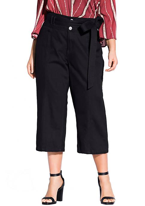 Plus Size Denim Classic Crop Jeans