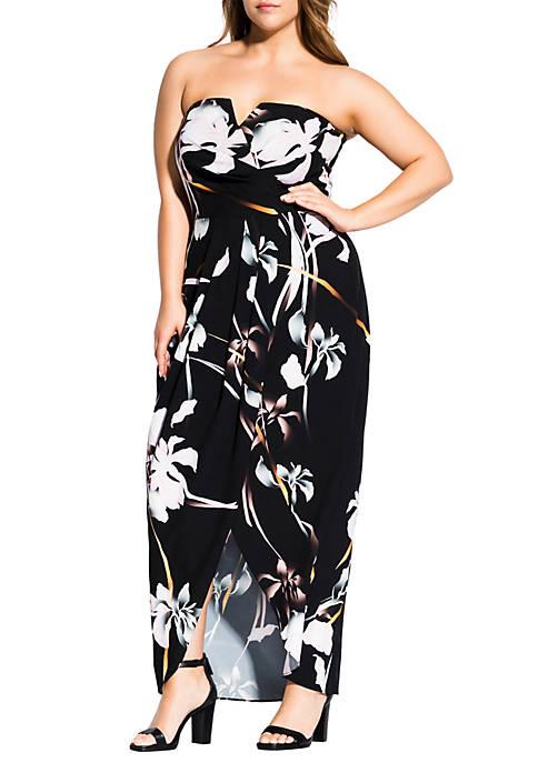 City Chic Plus Size Dreamy Orchid Maxi Dress