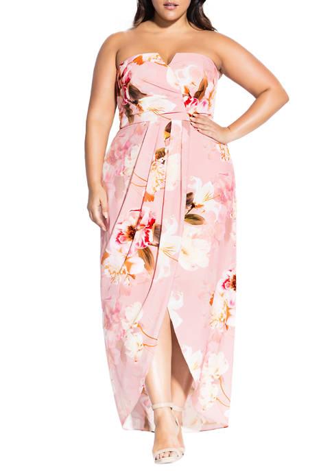 Plus Size English Rose Maxi Dress