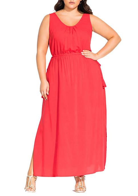 Plus Size Maxi Tassels Dress