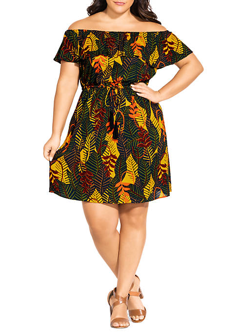 City Chic Plus Size Florida Keys Dress