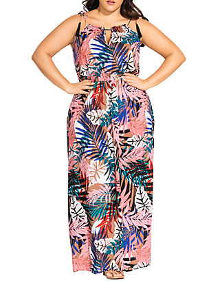 Plus Size Maxi Copacabana Dress