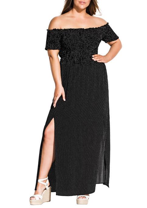 Plus Size Maxi Summer Spot Dress
