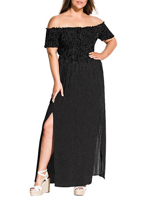 City Chic Plus Size Maxi Summer Spot Dress