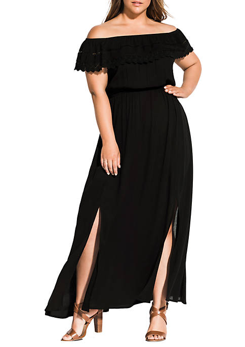 Plus Size Tropicana Maxi Dress