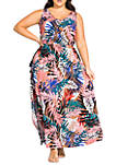 Plus Size Copacabana Short Sleeve Maxi Dress