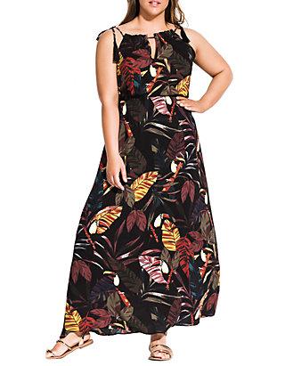 Plus Size Maxi Canopy Dress