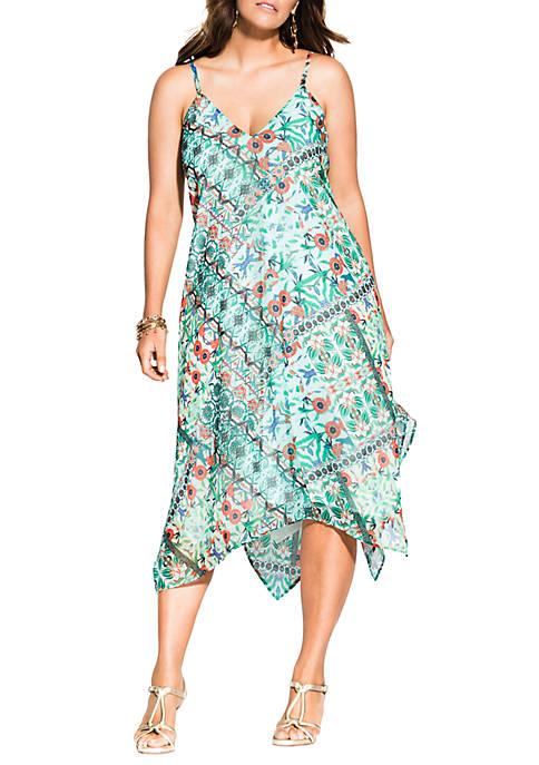 City Chic Plus Size Airy Palermo Dress