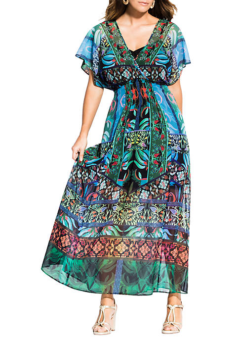 Plus Size Tangier Maxi Dress