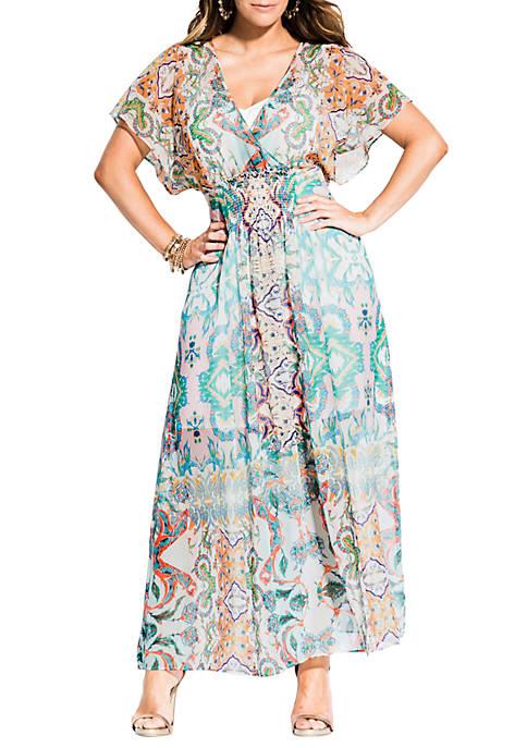 City Chic Plus Size Casablanca Maxi Dress