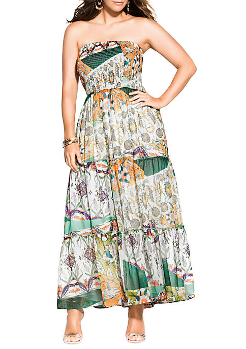 City Chic Plus Size Bilbao Maxi Dress